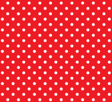 Polkadots Red and White Sticker