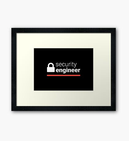 Security Engineer Framed Print