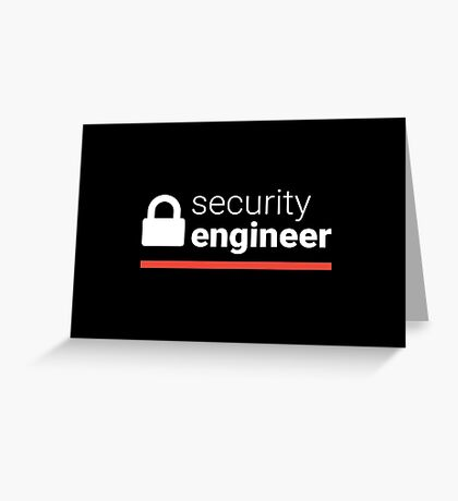Security Engineer Greeting Card
