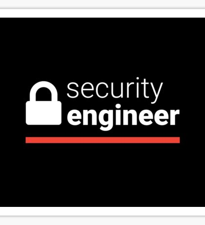 Security Engineer Sticker