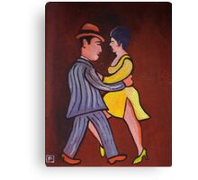 The tango (from my original acrylic painting) Canvas Print