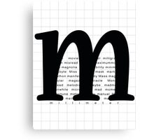 Art Print - Words with Letter M - Words and Letters - Typography Canvas Print