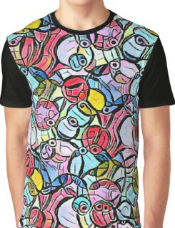 Psychedelic Pink Piggies Graphic T-Shirt