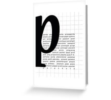 Art Print - Words with Letter P - Words and Letters - Typography Greeting Card