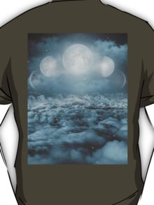 Uncertain. Alone. Cratered By Imperfections. (Loyal Moon) T-Shirt