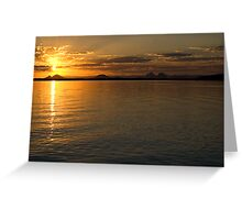 White Patch Sunset Greeting Card