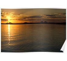 White Patch Sunset Poster