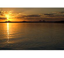 White Patch Sunset Photographic Print