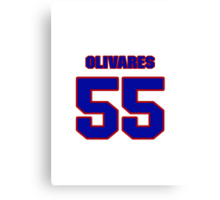 National baseball player Omar Olivares jersey 55 Canvas Print
