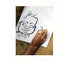Caricature Artist Art Print