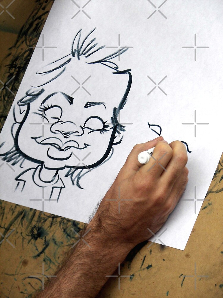 Caricature Artist by Maria Dryfhout