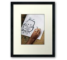 Caricature Artist Framed Print
