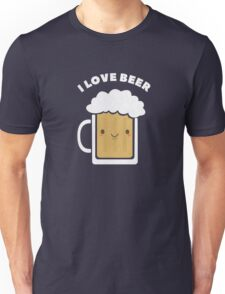Cute I Love Beer  Unisex T-Shirt