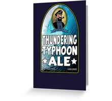 Haddock's Thundering Typhoon Ale Greeting Card
