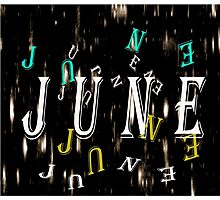 Birth Month - June Special Effects Photographic Print