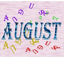 Birth Month - August Special Effects Photographic Print
