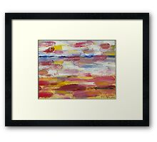 Abstract Beach Framed Print