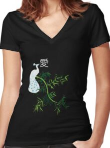 Tranquil emission Women's Fitted V-Neck T-Shirt