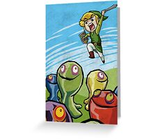 Link versus the ChuChus Greeting Card