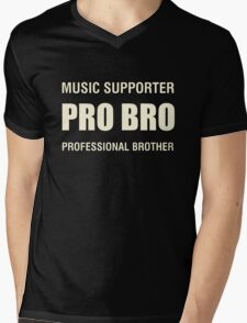 Pro Bro Off White Mens V-Neck T-Shirt