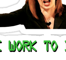 IT Crowd Jen - Do Some Work to do with Comp-uters! UPDATED Sticker