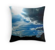 Camera In The Clouds Throw Pillow