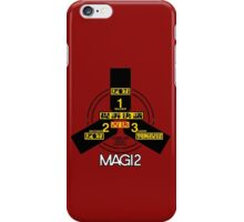 MAGI system - Melchior-1, Balthasar-2, and Casper-3. iPhone Case/Skin
