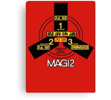 MAGI system - Melchior-1, Balthasar-2, and Casper-3. Canvas Print