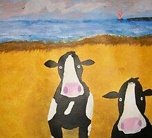 Cows at the Beach by Simon L. Read