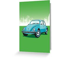 VW Beetle Greeting Card