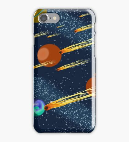 Outer Space Scene, Complete With Meteors, Comets and Planets. iPhone Case/Skin