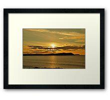 November Sunset Polzeath Cornwall  Framed Print