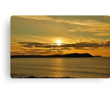 November Sunset Polzeath Cornwall  Canvas Print