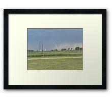 Lightning Bolt  Off Base Framed Print