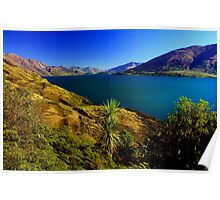 Sapphire Lake in New Zealand Poster