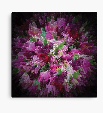 Pink Purple Flower Bouquet Canvas Print