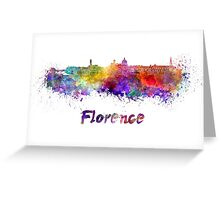 Florence skyline in watercolor Greeting Card