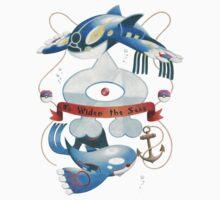 Team Aqua Crest  Kids Tee