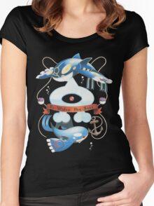 Team Aqua Crest  Women's Fitted Scoop T-Shirt
