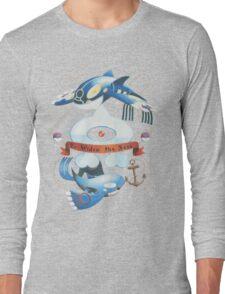 Team Aqua Crest  Long Sleeve T-Shirt