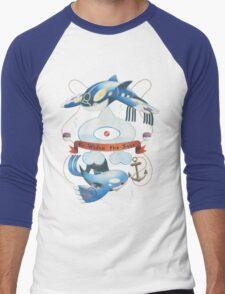 Team Aqua Crest  Men's Baseball ¾ T-Shirt