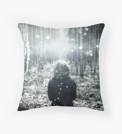 Forest Magical Path - This is how fairy tales begin. Throw Pillow