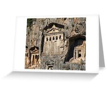 Lycian Tombs Cut From Rock Circa 400 BC Greeting Card