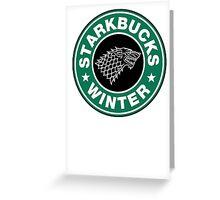 Starkbucks - Game of thrones house stark parody Greeting Card