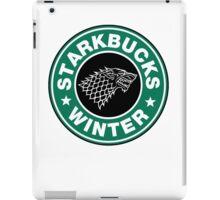 Starkbucks - Game of thrones house stark parody iPad Case/Skin
