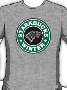 Starkbucks - Game of thrones house stark parody T-Shirt