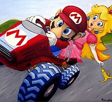 Mario Kart Double Dash Oil Painting by wimpy