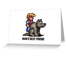 Man's Best Friend Greeting Card