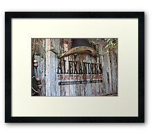 Bait Shack Framed Print
