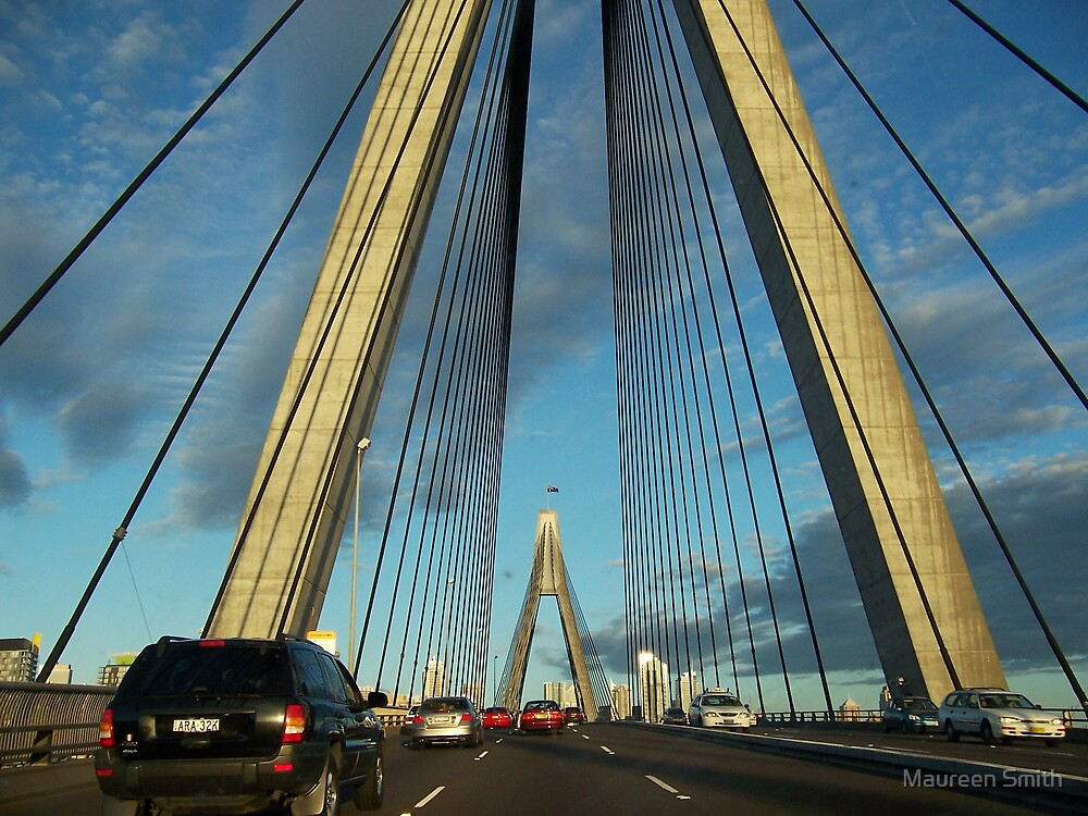 Anzac Bridge, Sydney, Australia by Maureen Smith